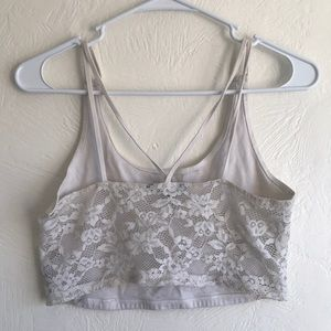 AEO lace bralette cream color size medium